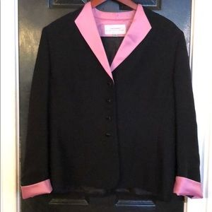 Tahari blank blazer with pink detailing size 14